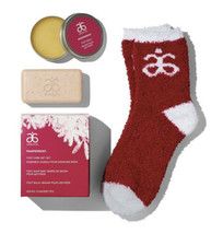 NEW IB Arbonne PAMPERMINT 3-piece Foot Care Gift Set (Soap, Balm, Socks) - $24.74