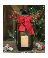Metal Christmas Lantern w/pillar candle  - $37.40
