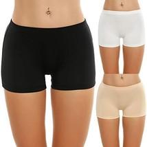 Ekouaer Briefs Underwear Woman Comfy Seamless Panties Pack of 3 Black/Wh... - $20.50