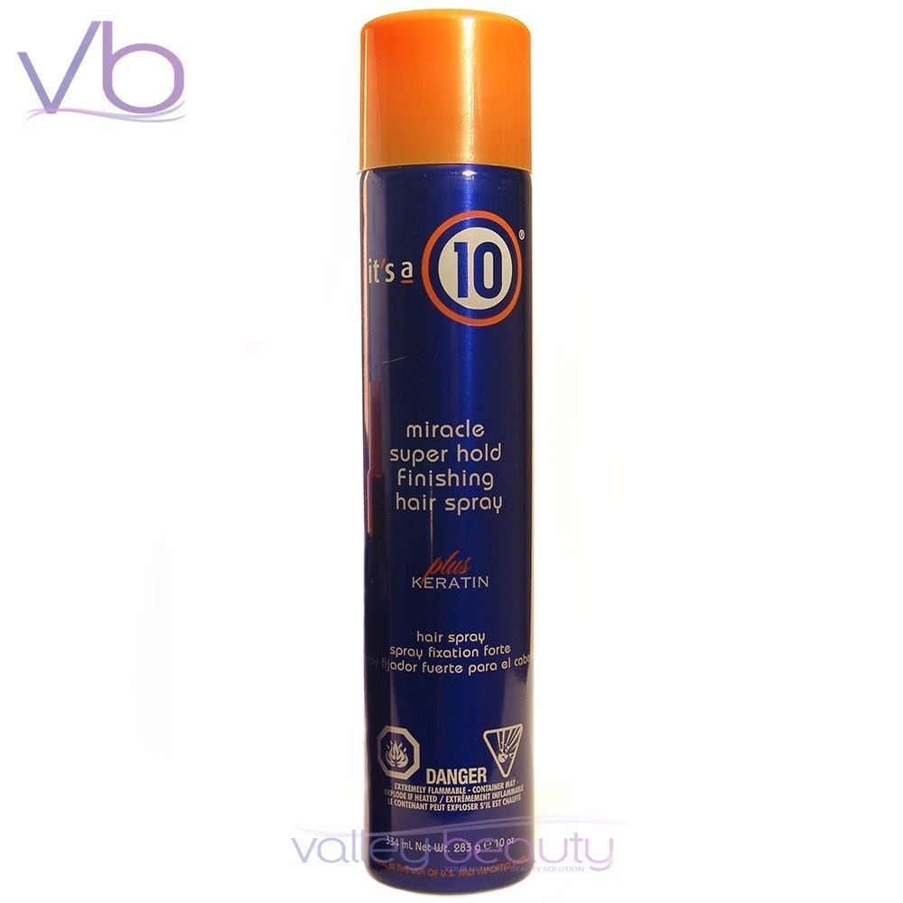 IT'S A 10 Miracle Super Hold Finishing Hair Spray 10oz, Keratin Enriched