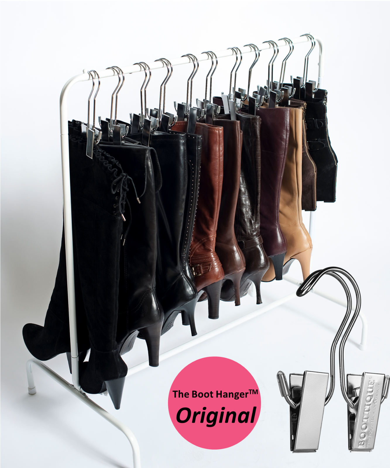The Boot Rack- Boot Storage System including Boot Hangers by Boottique - $47.95 - $59.95
