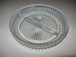 Queen Mary Anchor Hocking Glass Co Crystal Divided Candy Nut Dish  1936-1946 - $9.95