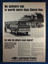 Vintage Magazine Ad Print Design Advertising Chevrolet Job Tamer Trucks - $12.86
