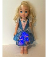 "Disney My First Princess Cinderella 20"" Vinyl Doll Light Up Dress Talkin... - $14.99"
