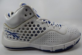 Reebok Men's Basketball Shoes Size US 12.5 M (D) EU 46 White Blue 4-381638