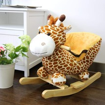 New Baby Kids Toy Plush Rocking GiraffeTheme Style Riding Rocker - $95.00