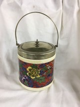 Antique English Caulodon Ware EPNS silver English Bisquit Jar Porcelain ... - $89.00