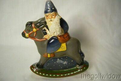 Vaillancourt Folk Art 30th Ann Starlight  Rocking Santa personally signed  Judi