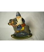 Vaillancourt Folk Art 30th Ann Starlight  Rocking Santa personally signe... - $219.99