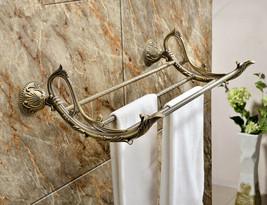Antique brass Classic style bathroom brass flowers towel racks Home/Hote... - $148.49