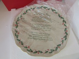 "LENOX CHINA AMERICAN BY DESIGN HOLIDAY GIVING PLATE 12"" NIB FOAM INSERT ... - $18.76"