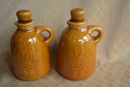 Franciscan Wheat Golden Brown Creamer, Oil & Vinegar Cruets with Stoppers 1950's - $19.39