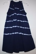 Gap Kids NWT Girl's Navy Blue Tie Dye Racer Back Maxi Dress Hi Lo Hem image 4