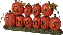 Halloween Pumpkin Decoration - Give Thanks - £10.79 GBP