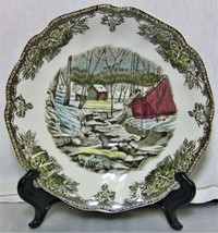 """Johnson Bros Friendly Village Saucer 5 5/8"""" The Ice House Excellent - $10.99"""