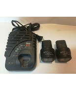 Matco Tools C1033038 MUC12LC Lithium-Ion Battery Charger & 2 MUC122LC Ba... - $138.59