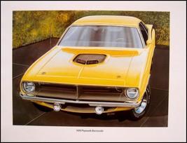 Dodge Plymouth Mopar Muscle Car Print Lithograph Set #4 1966 1967 1968 1969 1970 - $57.42