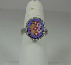 Micro Mosaic Toe Ring Size 4 - $10.88