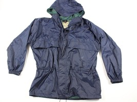 Vintage 90s LL Bean Mens XL Double Walled Full Zip Outdoor Hooded Rain J... - $54.40