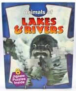 Animals of Rivers & Streams Hardback Jigsaw Puzzle Book - $9.88