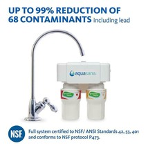 2-Stage Under Counter Water Filtration System with Chrome Finish Faucet - $159.98