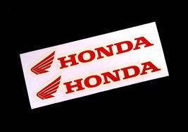"""4.9"""" Die Cut Honda Wing Fuel Tank Red Color Sticker Decal Motorcycle Big Bike - $6.99"""