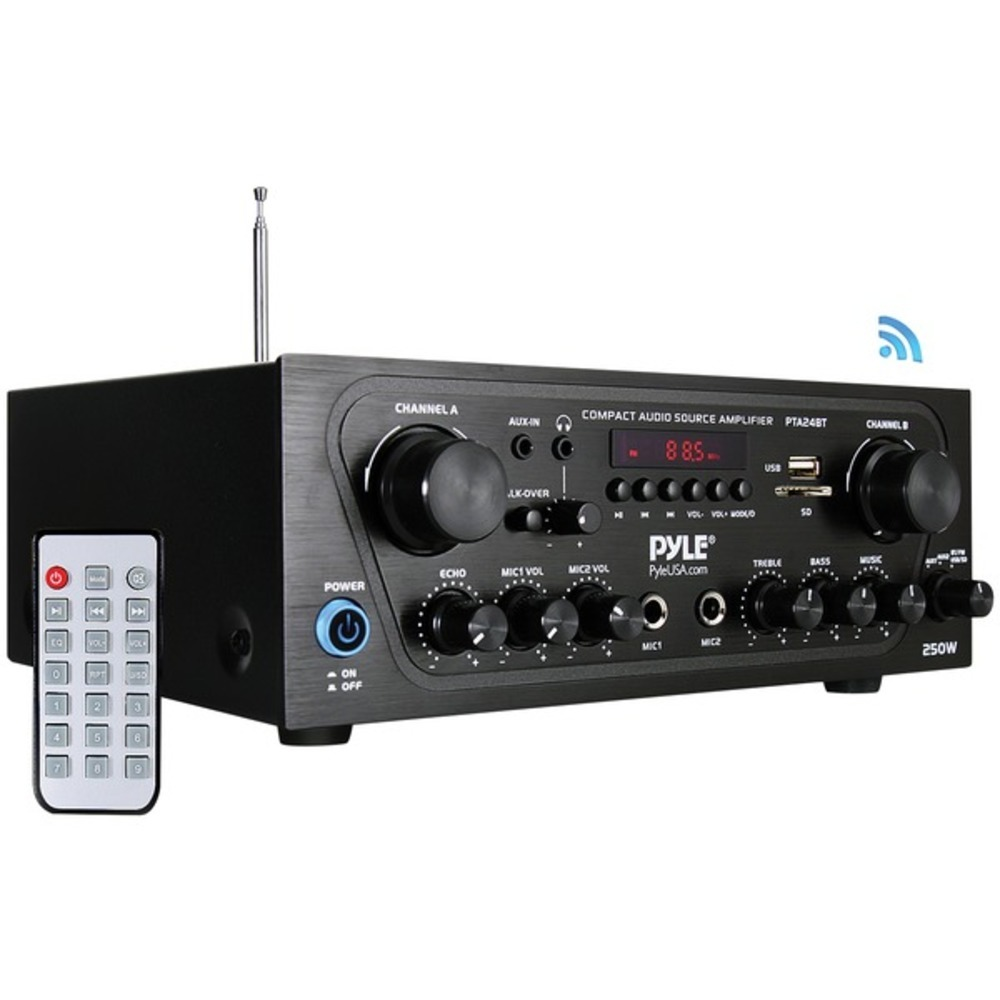 Primary image for Pyle Home PTA24BT Compact Bluetooth Audio Stereo Receiver with FM Radio