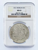 1921 $1 Silver Morgan Dollar Graded by NGC as MS-63! Gorgeous Coin! - $59.40