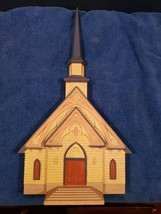 HOMCO Home Interiors Molded Plastic Church Wall Sculpture Plaque - $25.73