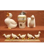 LOT OF 8 DUCK FIGURINES  PERFECT  DUCK LOVERS SCENT POT - $10.84