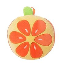 Lovely Orange&Yellow Kids Backpack Cute Orange Pattern Plush Baby Bag 1-3Y