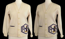 Vintage 50s Letter Cardigan Sweater Letterman Rockabilly Size XS to Small - $79.19