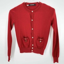 Dsquared2 Girls 100% Wool Cardigan Red sz 10Y  - $74.20