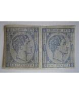CUBA 1876 Stamp, Scott #69a  King Alfonso XII  50c (ultr) Imper. Pair - $12.00