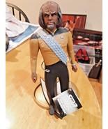 "Vintage Star Trek ""Lieutenant Worf"" 11""  Figure with stand 1991 Hamilton - $19.79"