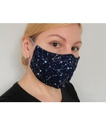 Face Mask with Nose Wire, Cotton Navy Face Mask, Breathable Washable Reu... - $8.50+