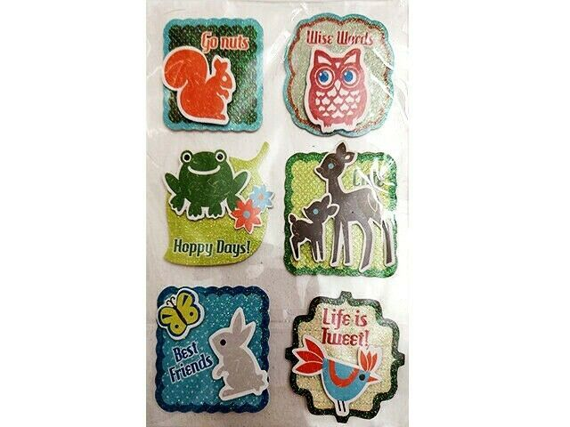 Glittered Animal Stickers and Sentiments #56486