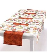 New Food Network Fall Leaves Reversible Table Runner Sets Multi Color - $43.55+