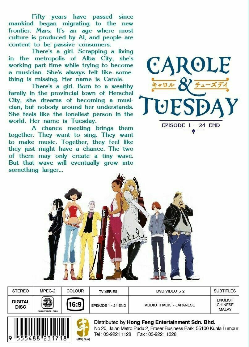 Carole & Tuesday Vol.1-24 End English Subtitle DVD Ship From USA