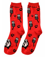 Genuine Kit Cat Klock Casual Funky Women's RED Socks - $12.95