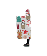 Christmas Santa and Friends Hooded Blanket - $55.00