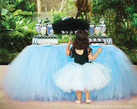 Any Color TABLE TUTU Skirt Rainbow Table Tulle Skirt Tutu Tulle Table Decoration image 8