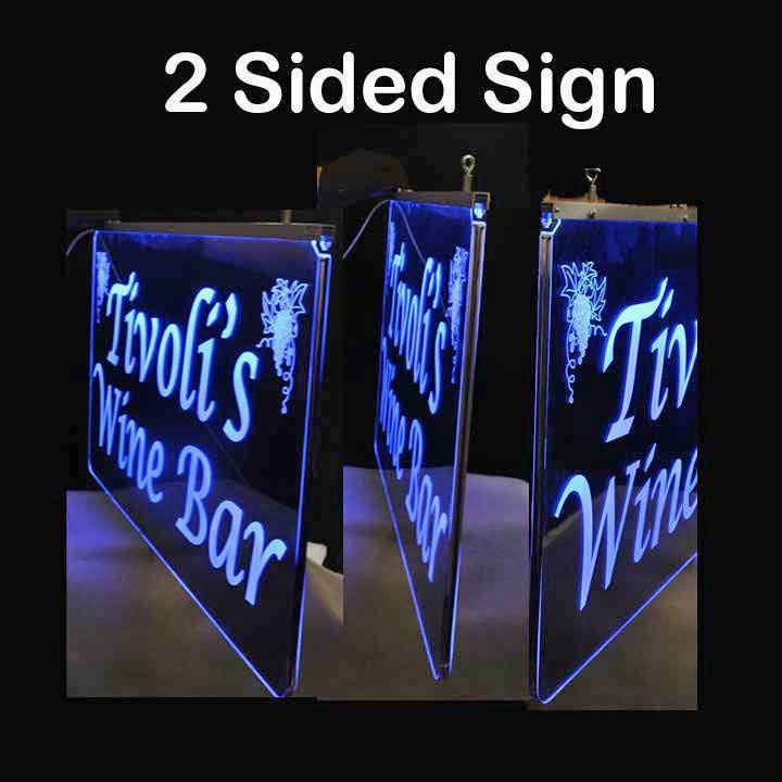 Personalized 2 Sided LED Laser Engraved Sign - $133.65 - $420.75