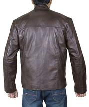 Mens Han Solo Star Wars Force Awakens Harrison Ford Brown Leather Jacket image 4