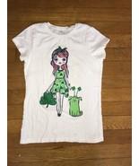 ! childrens place irish shamrock green white tee shirt top medium 7 - 8 ... - $3.95