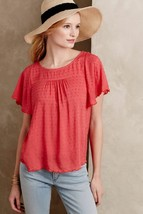 NEW $78 Anthropologie Keme Dotted Tee by Maeve Butterfly Sleeves Size 0 - $31.68