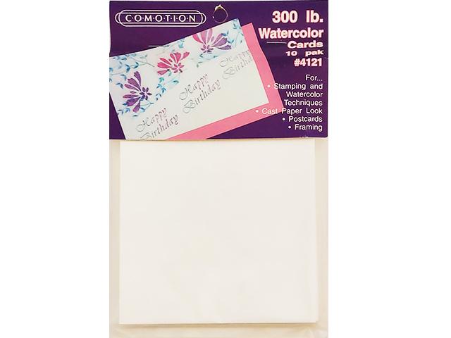 "Comotion 300 lb. Watercolor Cards, 10 Pack #4121, 5.75"" x 4.25"""