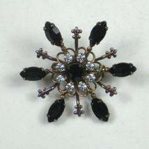Vintage Estate Brooch 1.5 In Women Pin Jewelry Starburst sunburst Rhines... - $19.79