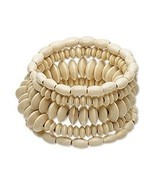 Lightweight Pagoda Tree Wood Bead Memory Bracelet 6 coils ~ Great for SU... - £6.07 GBP