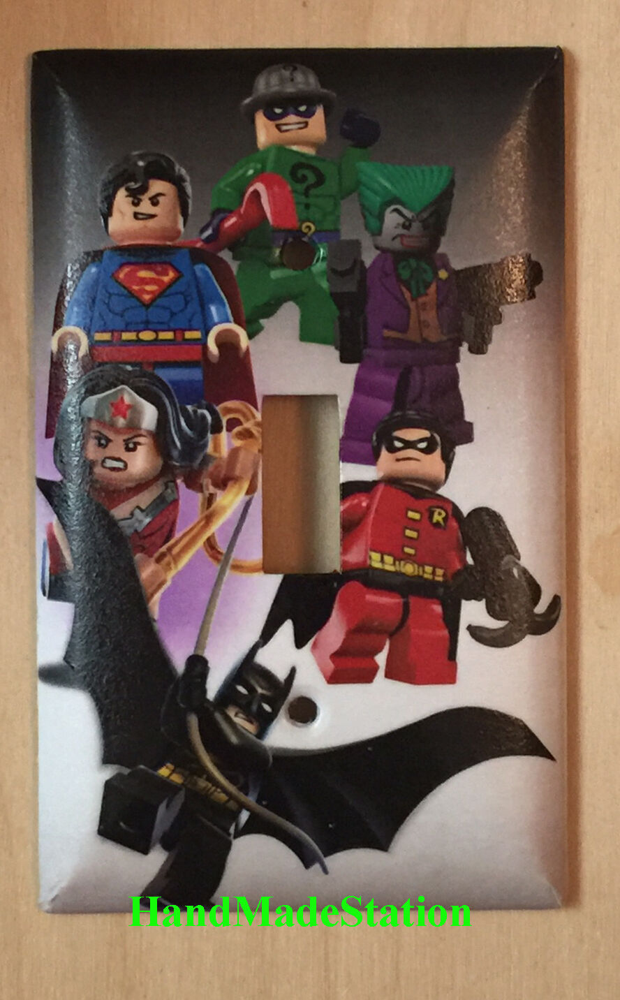 Lego Superhero Characters Light Switch Power Outlet Wall Cover Plate Home Decor